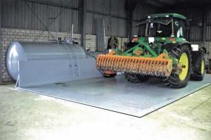Diesel-Abfüllplatz Typ TAW ohne Spritzschutzwand