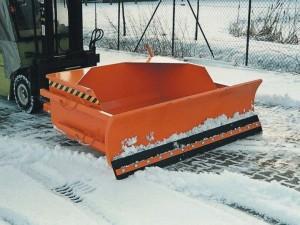 Schneeräum-Set aus Schneeschieber und Schaufel für Stapler